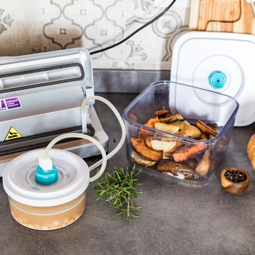 Contenitori e barattoli per aspirazione esterna sottovuoto - Besser Vacuum